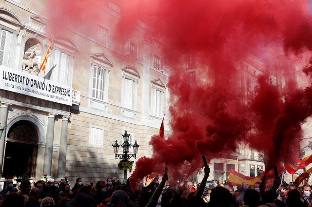 Антиправительственные протесты в Испании