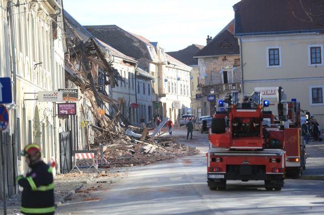 Власти Хорватии рассказали о последствиях землетрясения