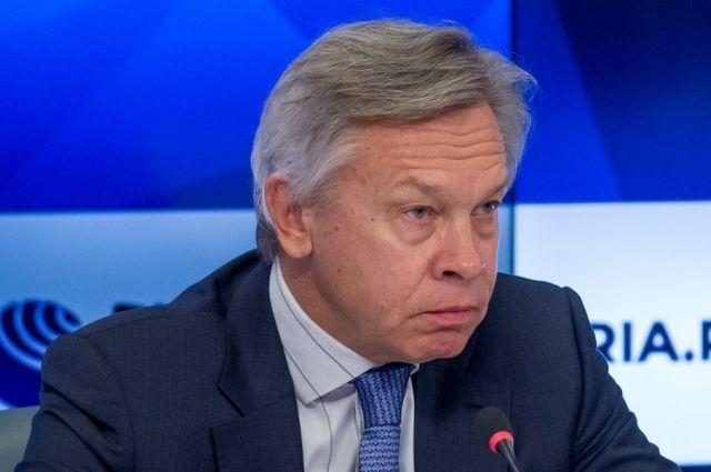 Пушков отреагировал на слова Столтенберга об «агрессии» России