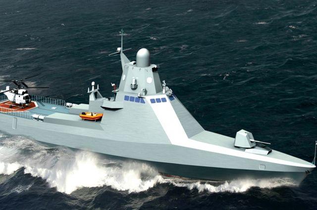 В Керчи прошла церемония спуска на воду корабля «Сергей Котов»