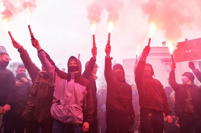 Протестная акция националистов в Киеве