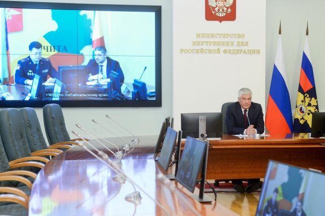 Колокольцев представил новых руководителей территориальных органов МВД РФ