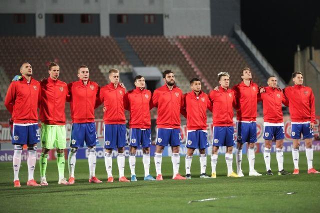 Российская сборная сыграет в красной форме в матче с командой Словении