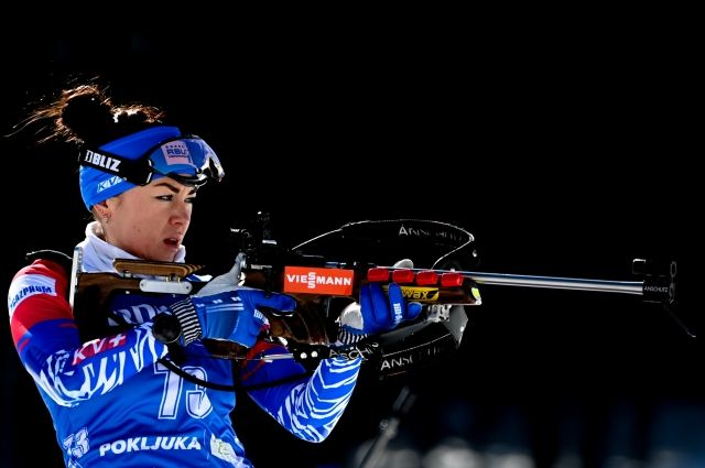 Лариса Куклина выиграла масс-старт на чемпионате России по биатлону