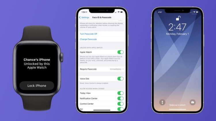 В iOS 14.5 появилась разблокировка iPhone с помощью Apple Watch
