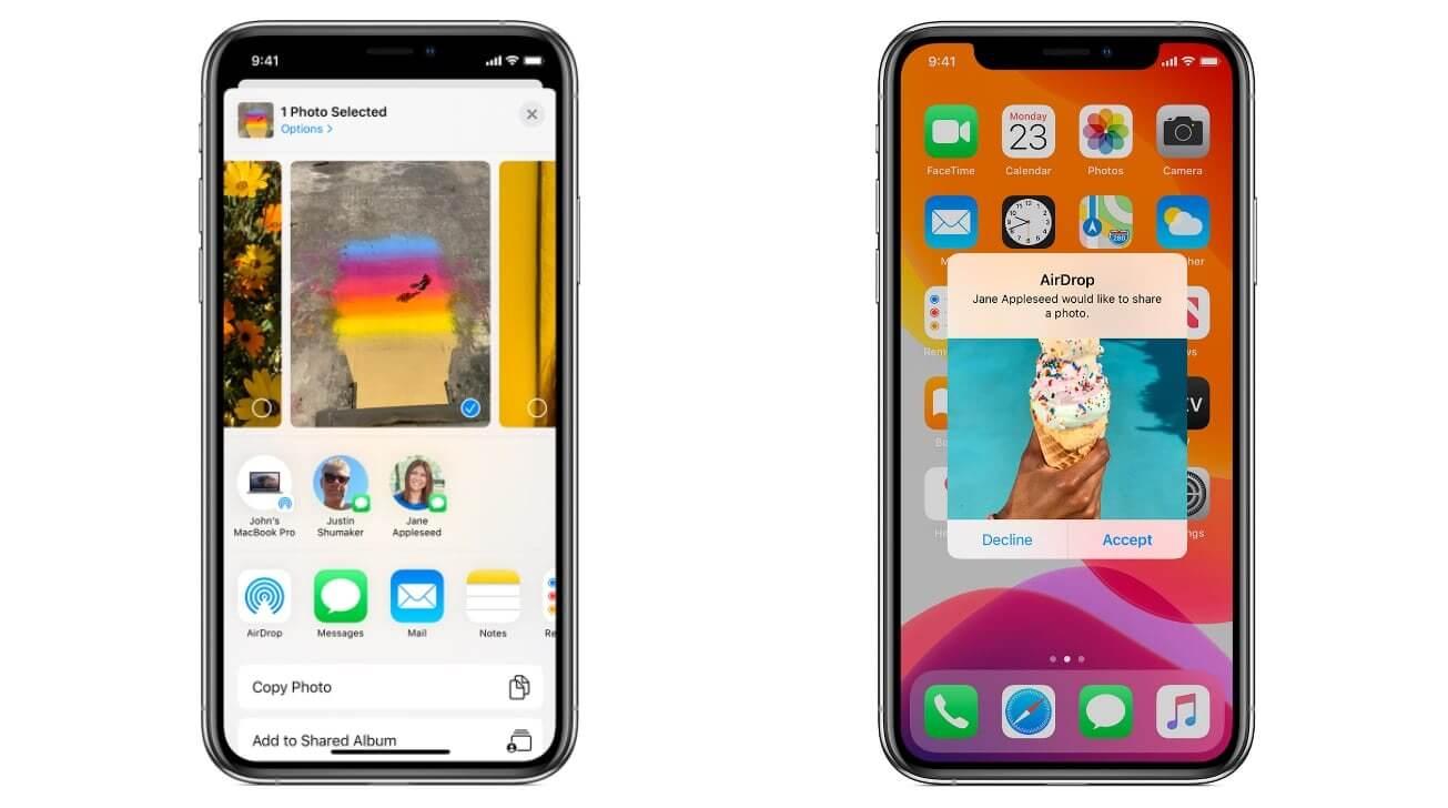 Самый быстрый способ передачи данных между устройствами Apple