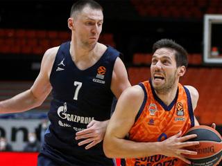 Баскетбольный 'Зенит' обыграл в Евролиге 'Валенсию Баскет'