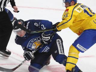 Дубль Линдберга помог Швеции обыграть Финляндию в матче Евротура