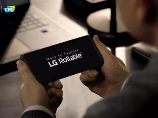 LG показала смартфон со сворачивающимся экраном