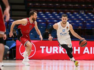 Баскетбольный 'Зенит' выиграл у 'Милана' в Евролиге