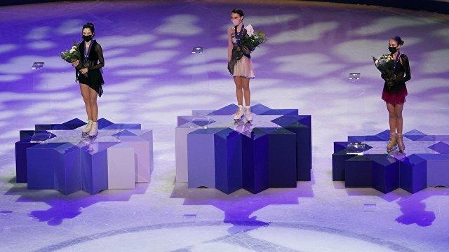 Страна (Украина): впервые в истории весь пьедестал чемпионата мира по фигурному катанию заняли россиянки без флага