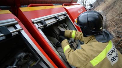 В Нижегородской области произошёл пожар на пилораме