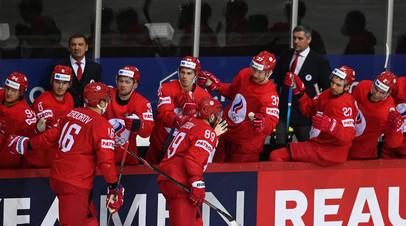 Поле для экспериментов: сборная России крупно обыгрывает команду Белоруссии на ЧМ по хоккею