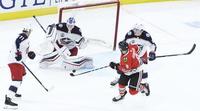 «Коламбус» с Гавриковым и Григоренко одолел «Чикаго» в матче НХЛ