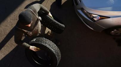 Водителям в России могут запретить ездить на летней резине зимой