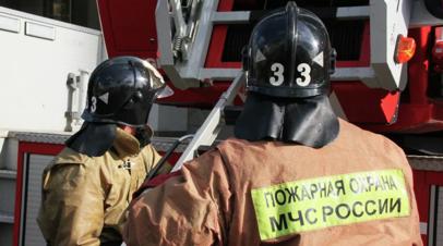 В Архангельской области произошёл пожар на пилораме