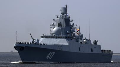 Фрегат «Адмирал Горшков» выполнил стрельбу по цели на Новой Земле