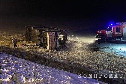 Названа возможная причина аварии с рейсовым автобусом под Рязанью