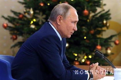 Путин рассказал о своем главном новогоднем тосте