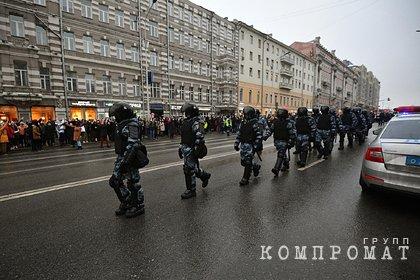 Арестован первый напавший на полицейского на митинге в Москве 23 января