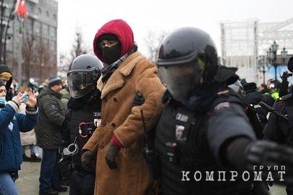 Участники несанкционированной акции в Москве устроили драки с полицейскими
