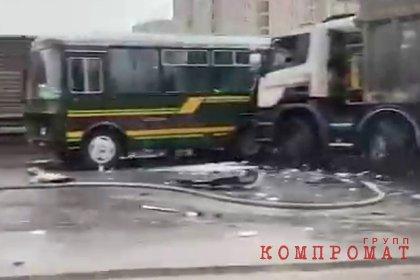 Водитель самосвала «что-то протирал» в момент ДТП с военной колонной под Москвой