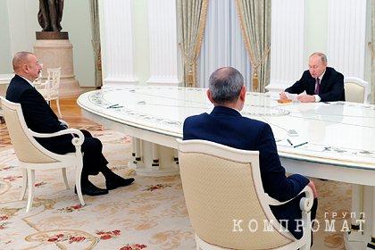 Путин сделал заявление после переговоров с Пашиняном и Алиевым