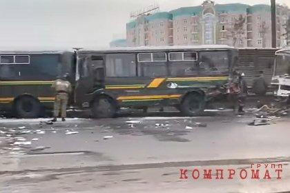 Число пострадавших в ДТП с колонной военных автобусов достигло 41