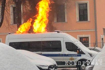 Подозреваемого в поджоге автомобиля Росгвардии на акции 31 января арестовали