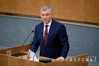 Володин допустил введение наказания за призывы к санкциям против россиян