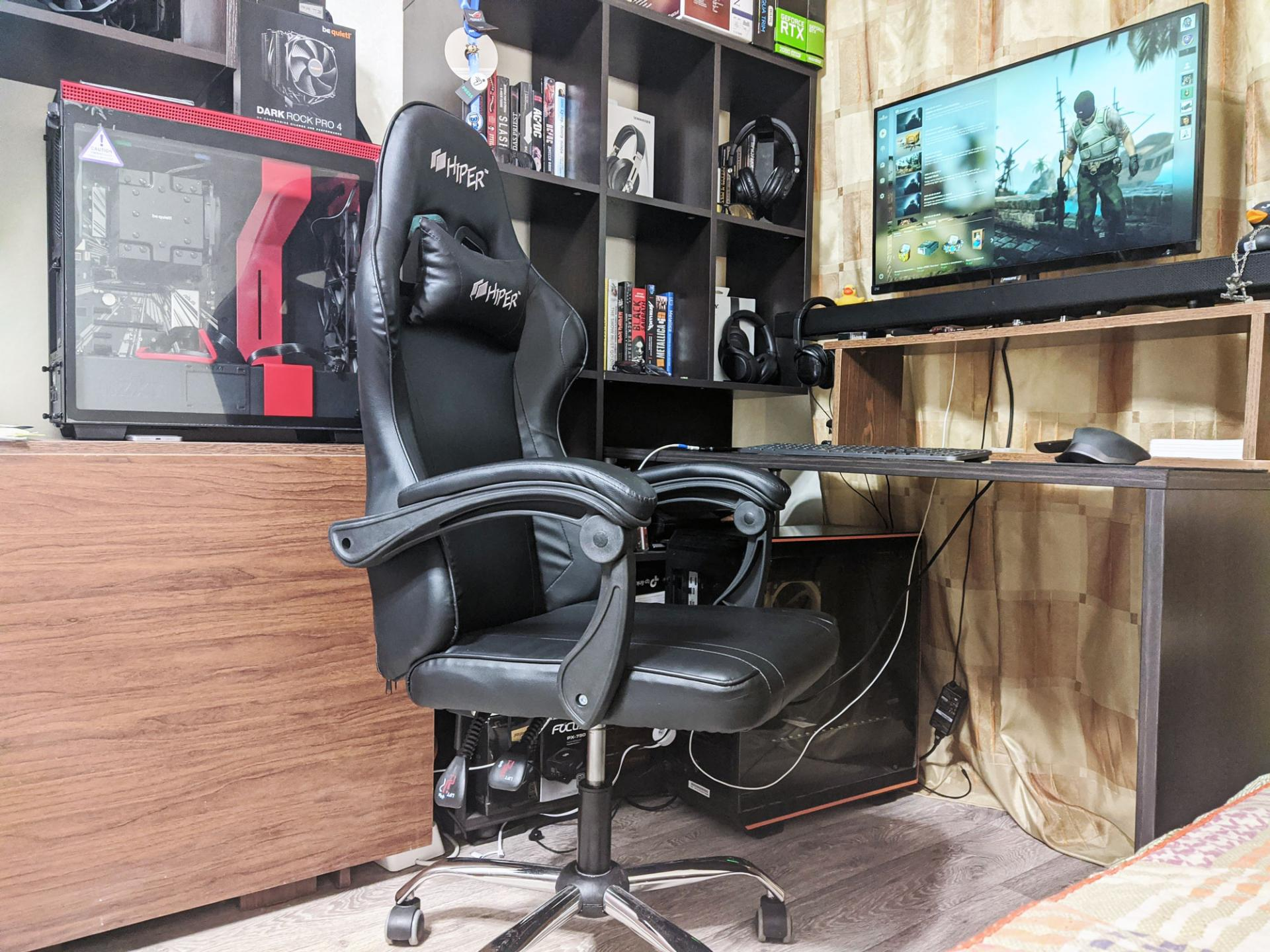 Обзор игрового кресла HIPER HGS-105 Black