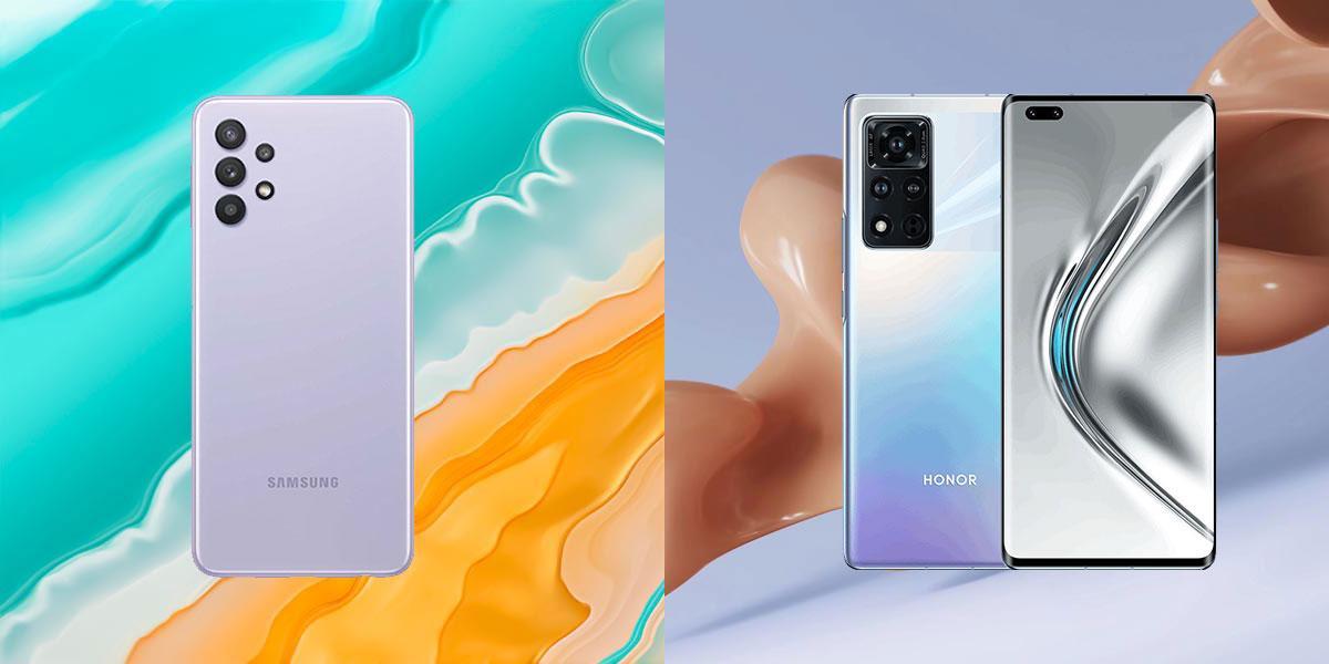 Обои из смартфонов Samsung Galaxy A32 и Honor V40 уже можно скачать