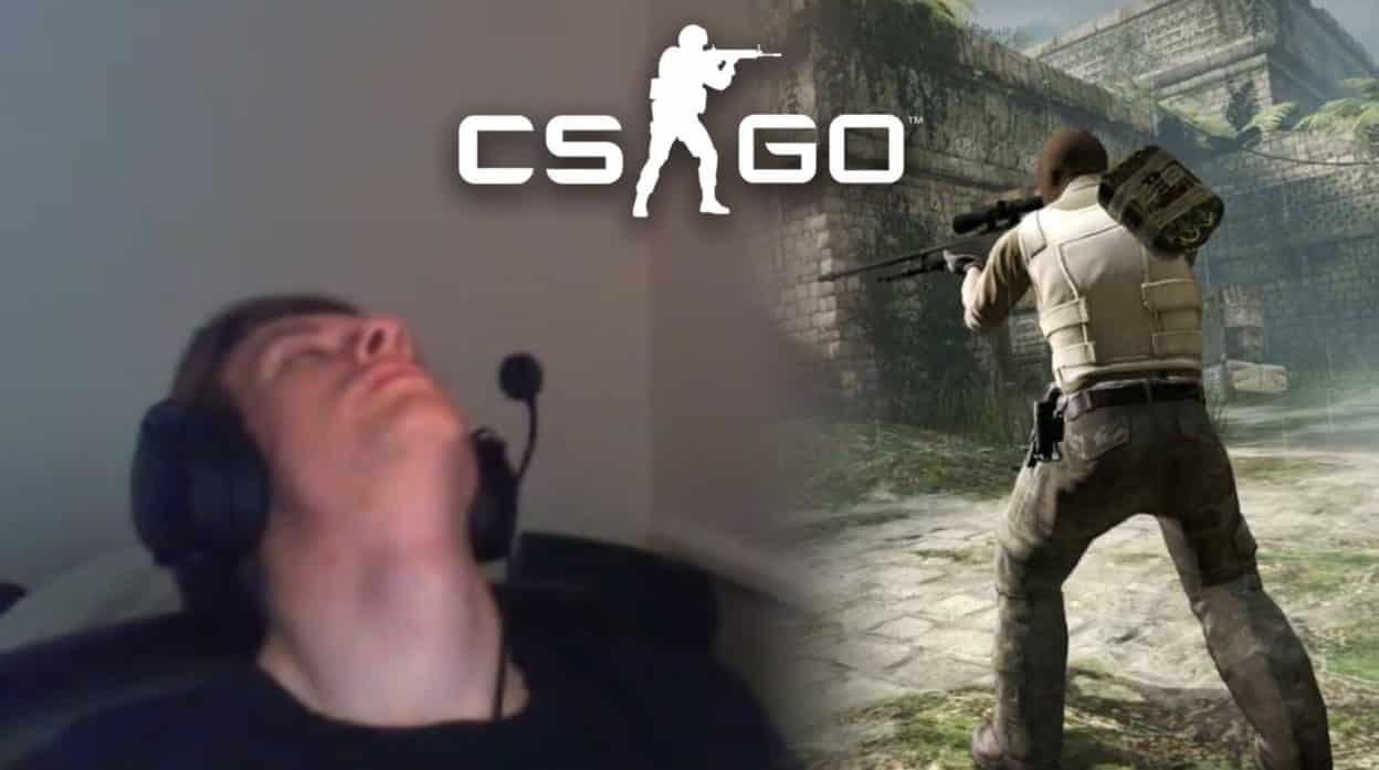 Пьяный стример уснул на матче CS:GO, но потом помог команде победить