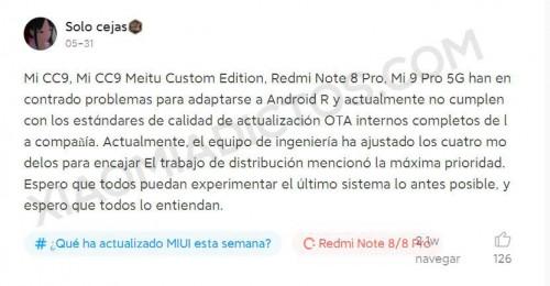 Рассылка обновления MIUI 12.5 будет отложена для ряда моделей Xiaomi