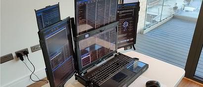 Начались продажи первого в мире ноутбука с семью дисплеями. Фото