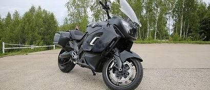 Россияне создали премиальный электромотоцикл Aurus для силовиков. Видео