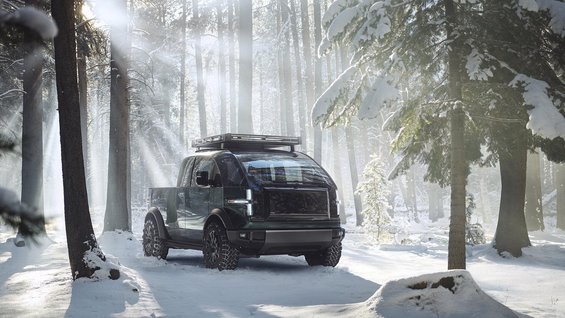 Canoo Electric Truck: конкурент Tesla Cybertruck и Hummer EV с необычным дизайном и модульной конструкцией