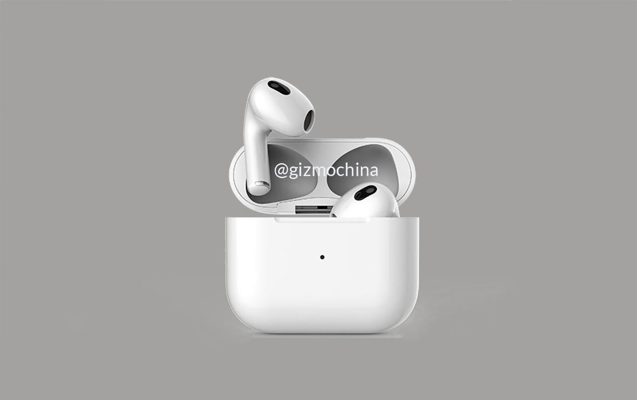 За две недели до анонса: в сеть утекли качественные рендеры Apple AirPods 3