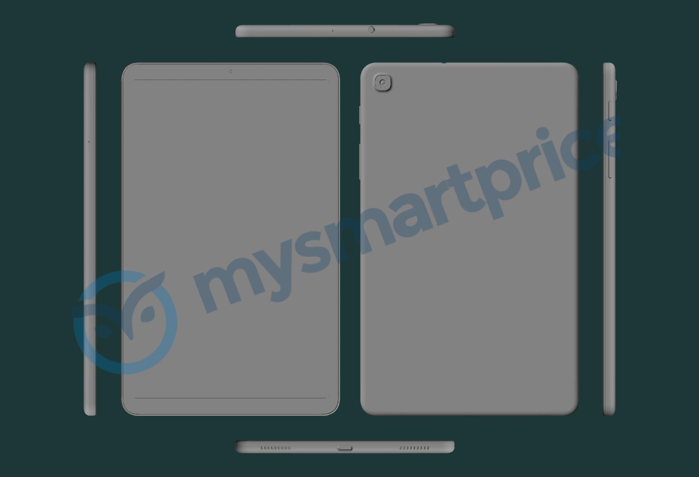 Samsung Galaxy Tab A (2021) на CAD-рендерах: 8.4-дюймовый дисплей, одна камера, порт USB-C и разъём для наушников