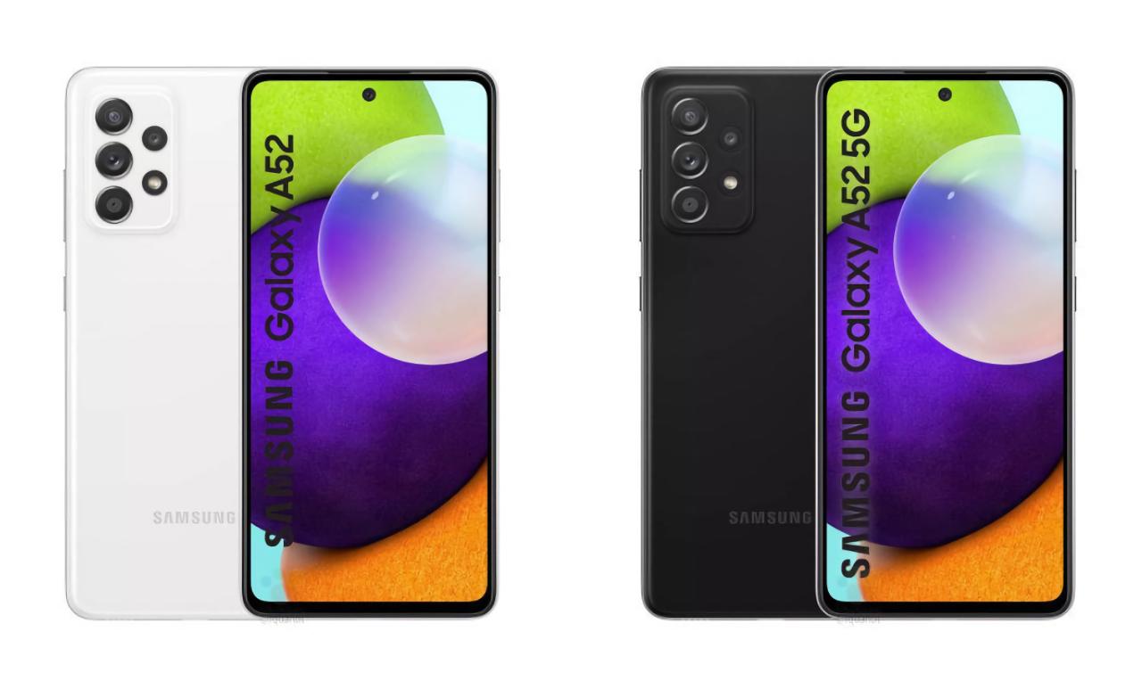 Изображения, цены и характеристики Samsung Galaxy A52 4G и Galaxy A52 5G утекли в сеть до презентации