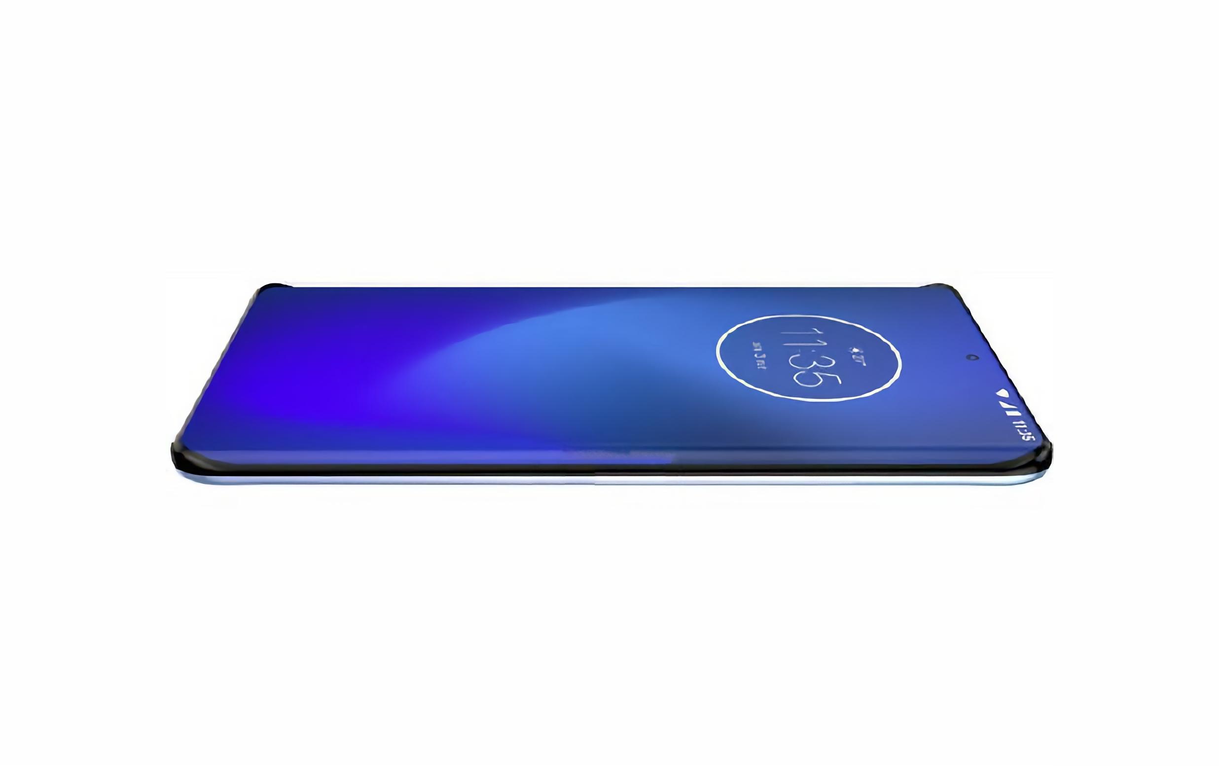 Новый флагманский смартфон Motorola появился на рендерах с экраном «водопад» и квадро-камерой