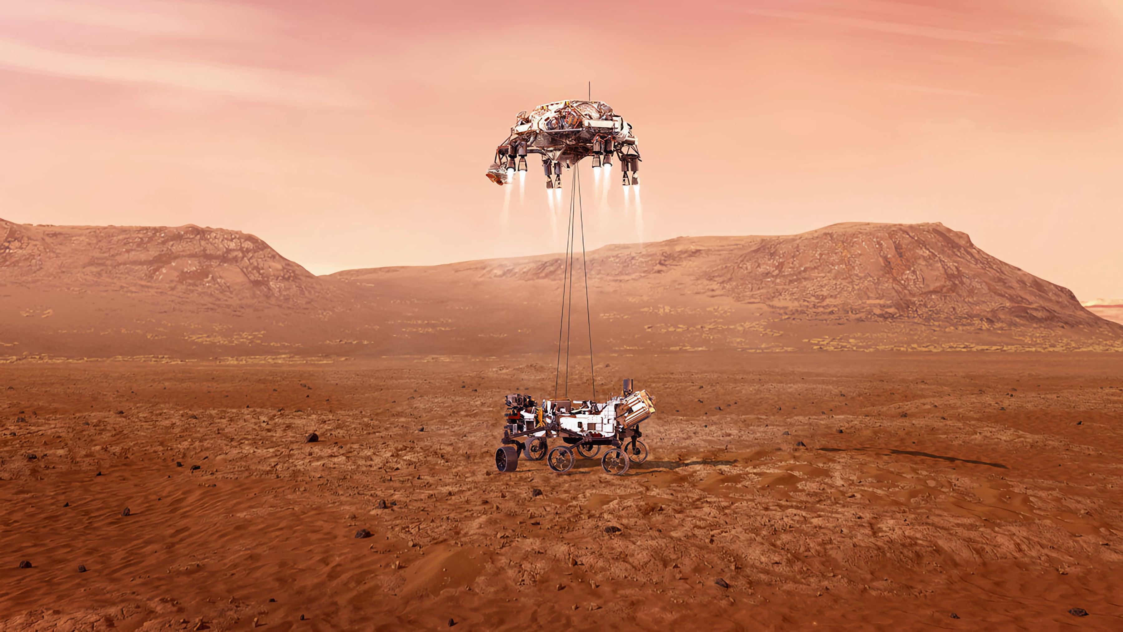 Шутки в сторону: марсоход NASA Perseverance приземлился на поверхность Марса и уже сделал первые фотографии планеты
