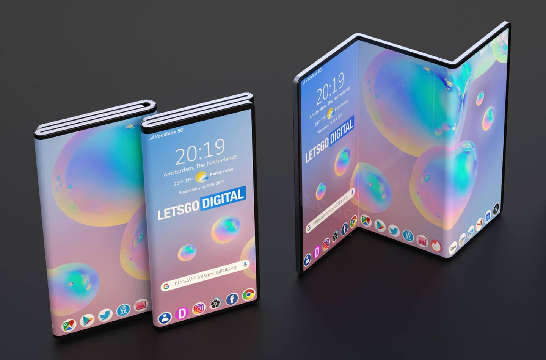 Двойной складной смартфон Samsung появился на концепт-изображениях