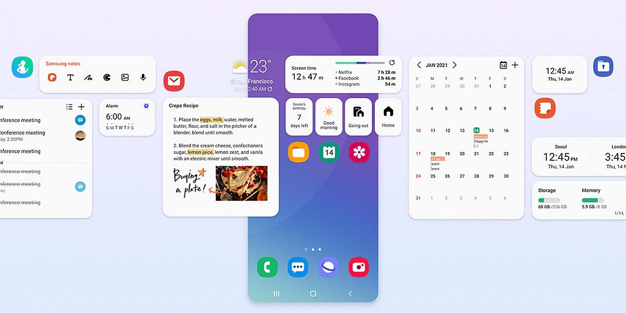 Какие смартфоны и планшеты Samsung Galaxy обновятся до Android 12 с One UI 4.0