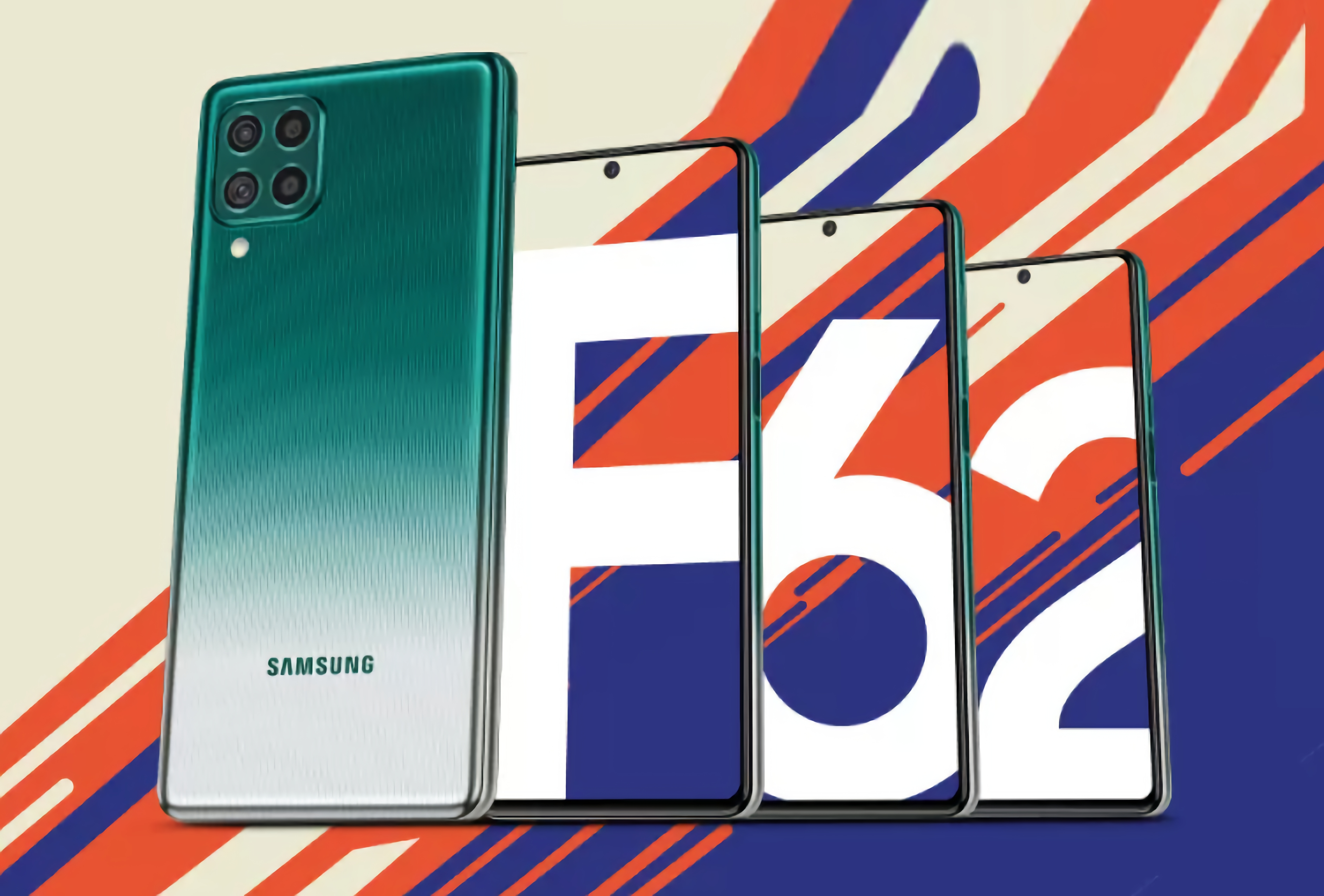 Samsung Galaxy F62: AMOLED-дисплей, чип как у Galaxy Note 10, квадро-камера на 64 МП, батарея на 7000 мАч и ценник от $330