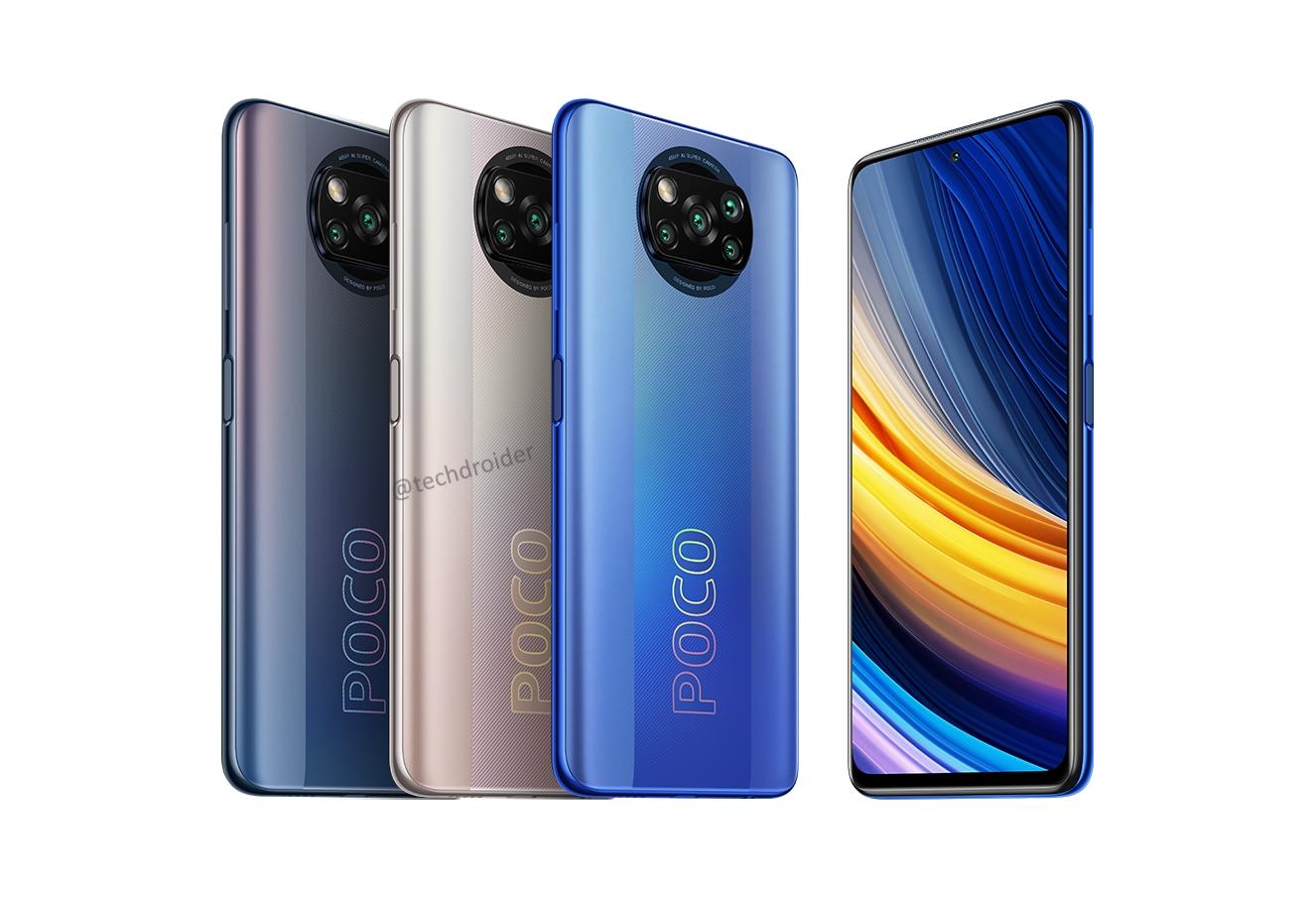 POCO X3 Pro «засветился» на пресс-рендерах: клон POCO X3 NFC в трёх новых расцветках