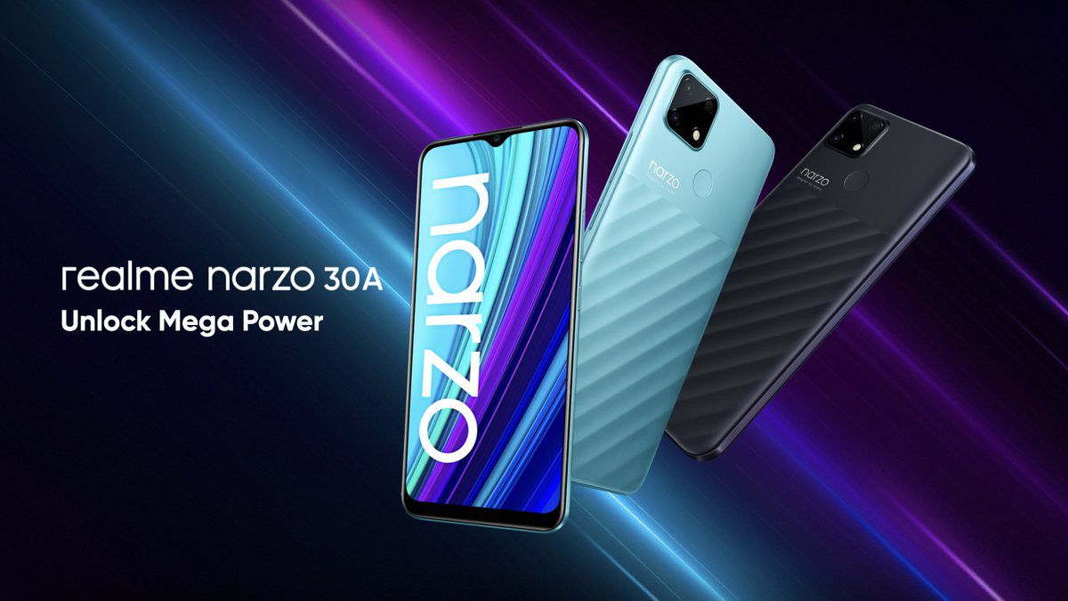 Realme Narzo 30A: смартфон с аккумулятором на 6000 мАч и дизайном Pixel 4 всего за $125