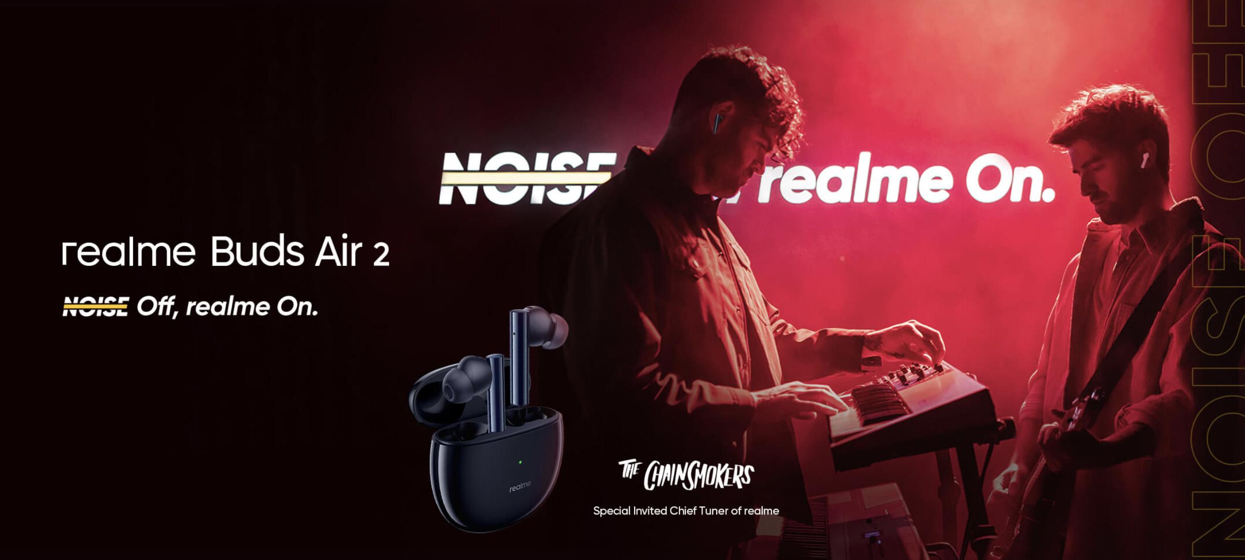 Realme раскрыла особенности TWS-наушников Buds Air 2 до анонса: ANC, режим низкой задержки звука и автономность до 25 часов