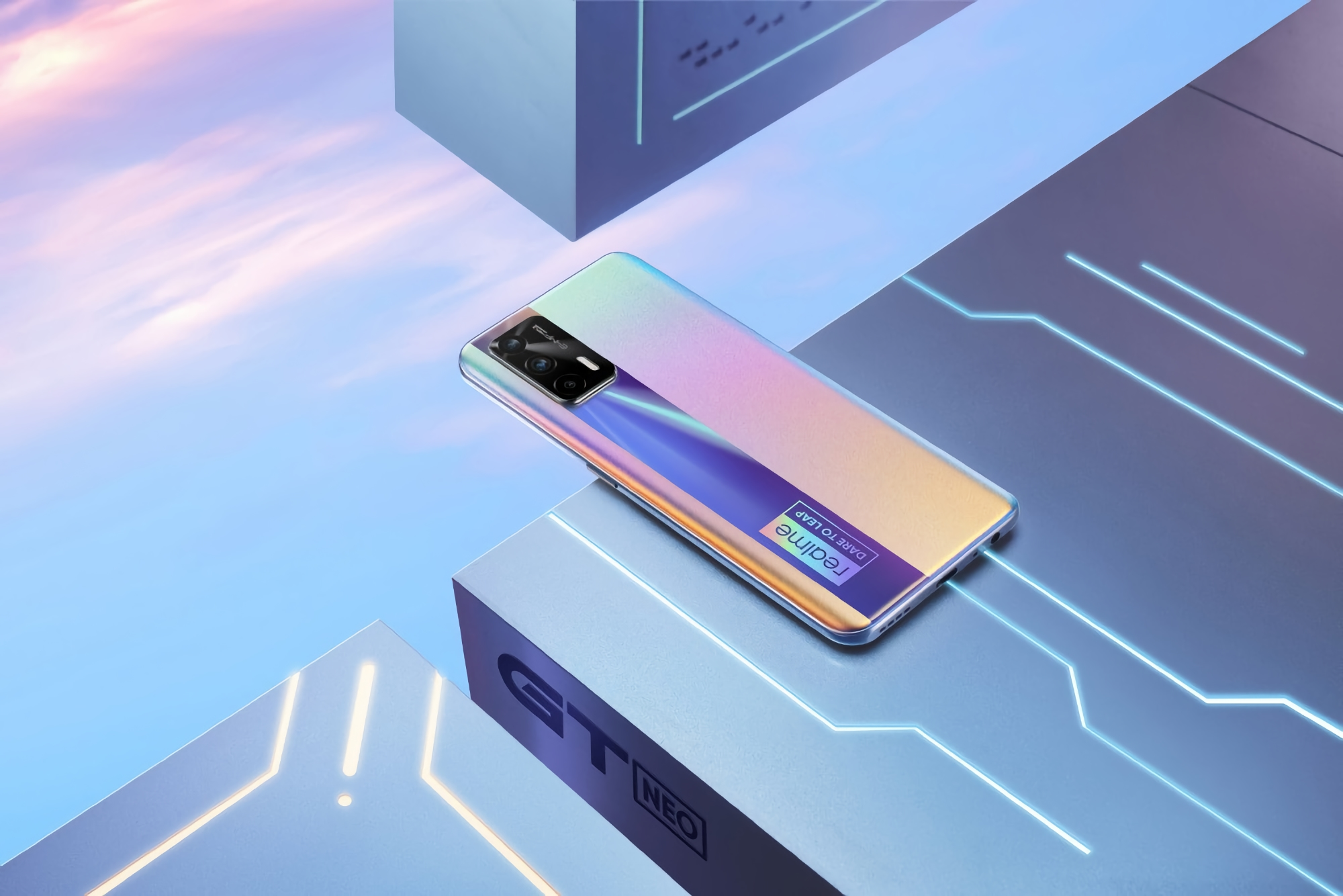 Realme показала внешний вид бюджетного флагмана с чипом MediaTek Dimensity 1200 на борту