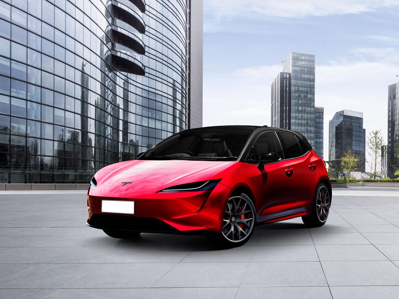 Самый дешёвый электромобиль Tesla появился на качественных изображениях (на самом деле нет)